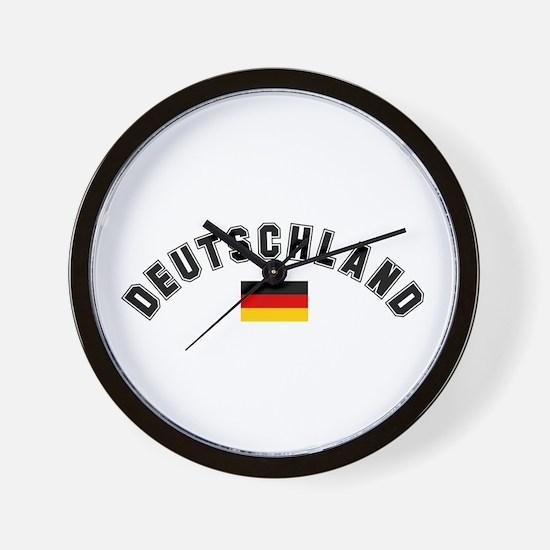 Deutschland Flag Wall Clock