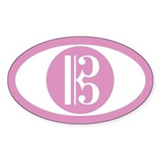 Alto Clef Pink Oval Decal