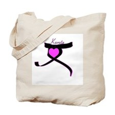 Black Belt Valentine Karate Tote Bag