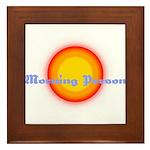 Morning Person Framed Tile