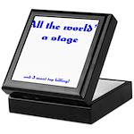 World's a Stage Keepsake Box