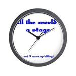 World's a Stage Wall Clock