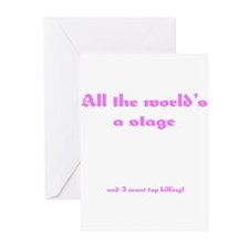 World's a Stage Greeting Cards (Pk of 10)