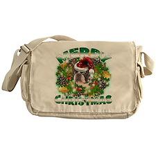 MerryChristmas Boston Terrier Messenger Bag