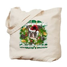 MerryChristmas Boston Terrier Tote Bag