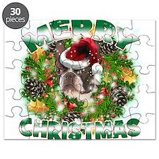 MerryChristmas Boston Terrier Puzzle