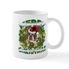 MerryChristmas Boston Terrier Mugs