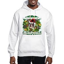 MerryChristmas Boston Terrier Hoodie