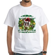 MerryChristmas Boston Terrier T-Shirt