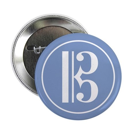 """Alto Clef Blue 2.25"""" Button (10 pack)"""