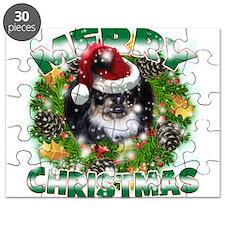 MerryChristmas Black Pekingnese Puzzle