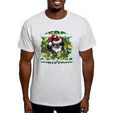 MerryChristmas Black Pekingnese T-Shirt