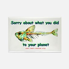 Sorry Fish Rectangle Magnet