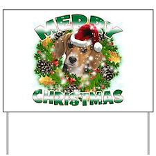 MerryChristmas Beagle Yard Sign