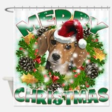 MerryChristmas Beagle Shower Curtain