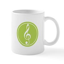 Treble Clef Green Mug
