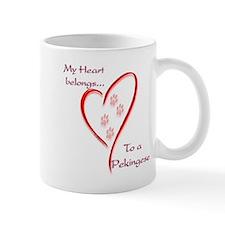 Pekingese Heart Belongs Coffee Mug