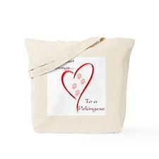 Pekingese Heart Belongs Tote Bag