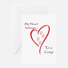 Corgi Heart Belongs Greeting Cards (Pk of 10)