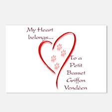 PBGV Heart Belongs Postcards (Package of 8)
