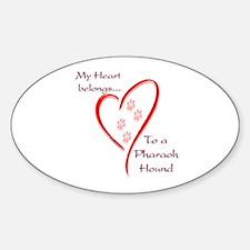 Pharaoh Heart Belongs Oval Decal