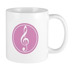 Treble Clef Pink Mug