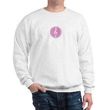 Treble Clef Pink Sweatshirt