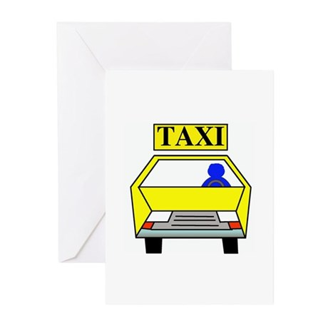 Taxi Logo Greeting Cards (Pk of 10)