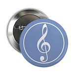 Treble Clef Blue Button