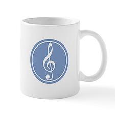 Treble Clef Blue Mug