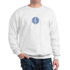 Treble Clef Blue Sweatshirt