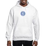 Treble Clef Blue Hooded Sweatshirt