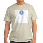 Treble Clef Blue Ash Grey T-Shirt