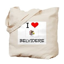 I Love BELVIDERE Illinois Tote Bag