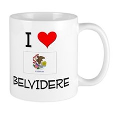 I Love BELVIDERE Illinois Mugs