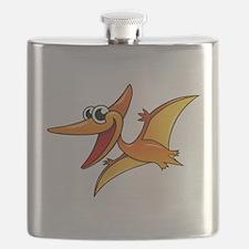 Cartoon Pterodactyl Flask