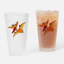 Cartoon Pterodactyl Drinking Glass