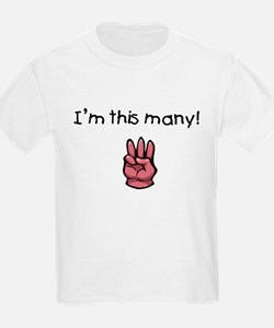 I'm This Many Age Three Kids Tee