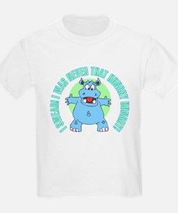 I Was Never That Hungry HIPPO Kids T-Shirt
