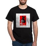 Knitting Retro Scottie Dog Dark T-Shirt