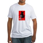Knitting Retro Scottie Dog Fitted T-Shirt