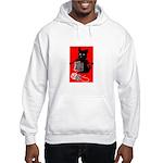 Knitting Retro Scottie Dog Hooded Sweatshirt