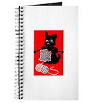 Knitting Retro Scottie Dog Journal