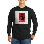 Knitting Retro Scottie Dog Long Sleeve Dark T-Shir