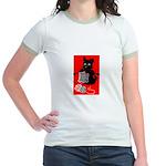 Knitting Retro Scottie Dog Jr. Ringer T-Shirt