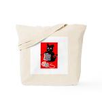 Knitting Retro Scottie Dog Tote Bag