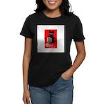 Knitting Retro Scottie Dog Women's Dark T-Shirt