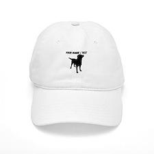 Custom Dog Silhouette Baseball Baseball Cap