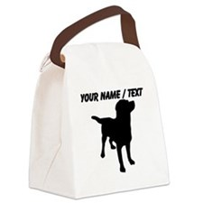 Custom Dog Silhouette Canvas Lunch Bag