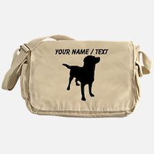 Custom Dog Silhouette Messenger Bag